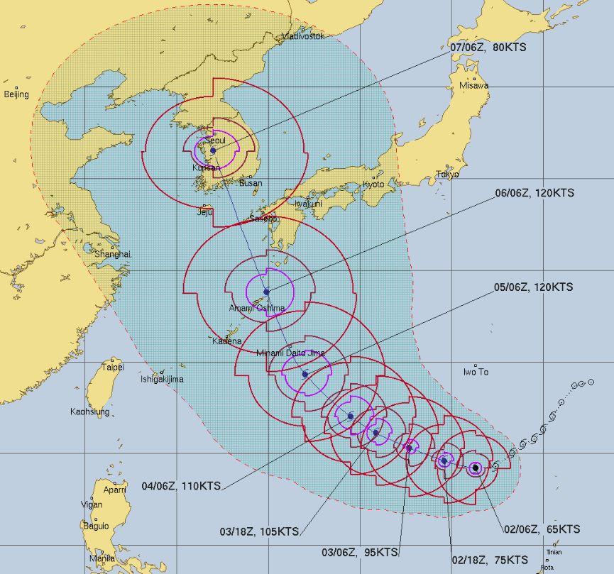台風10号米軍