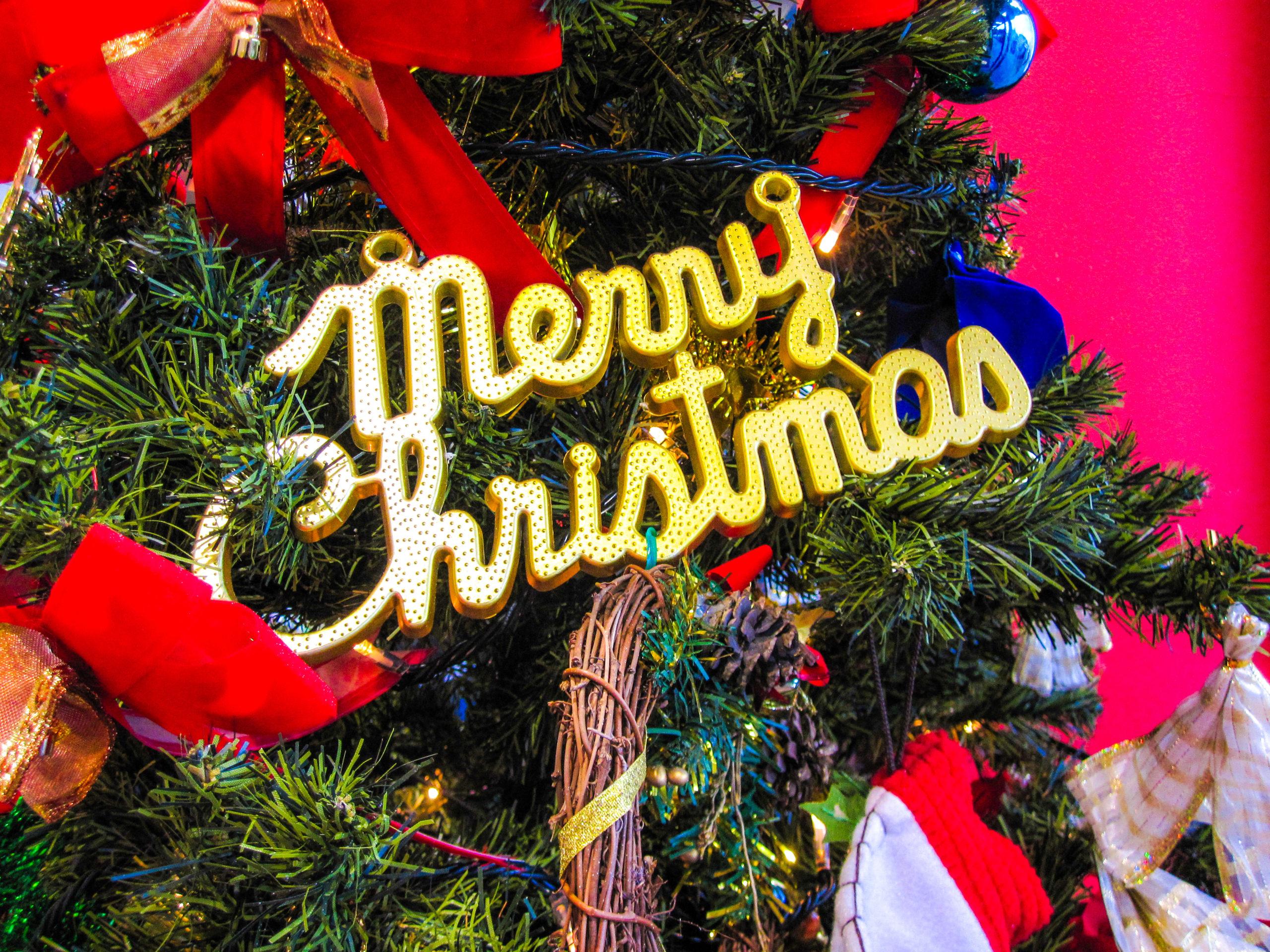 メリークリスマスの飾り